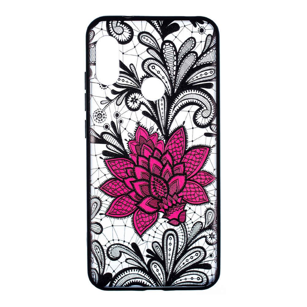Emboss Flower Phone Case for Xiaomi A2 Lite / Xiaomi Redmi 6 Pro Protective Air Shell TPU Back Cover - Transparent
