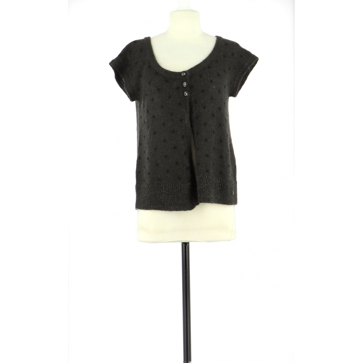 Des Petits Hauts \N Pullover in  Braun Wolle