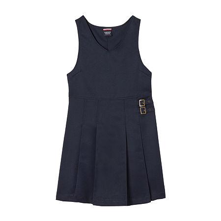 French Toast Little Girls Sleeveless Jumper, 6x , Blue