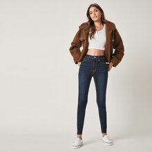BLUES schmale Jeans mit hoher Taille