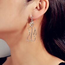 Geometric Shaped Drop Earrings