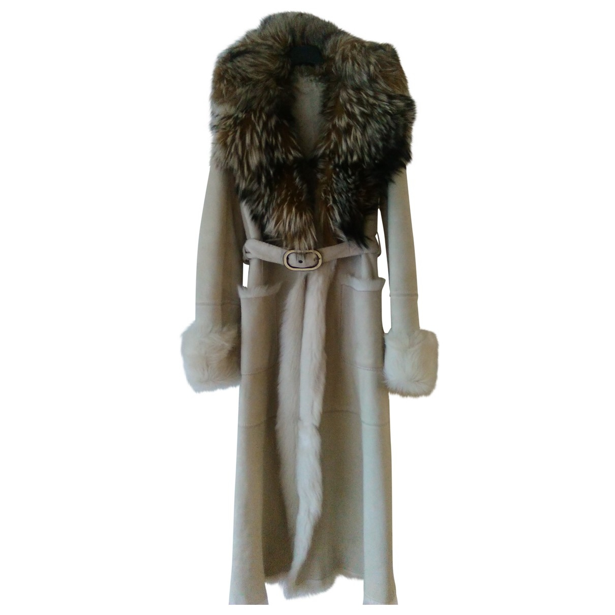 Valentino Garavani \N White Fox coat for Women 40 IT