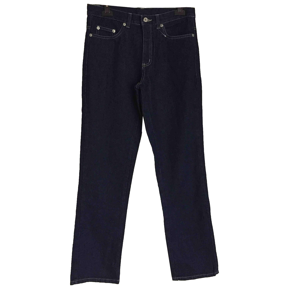 Non Signé / Unsigned \N Blue Cotton Trousers for Women 36 FR