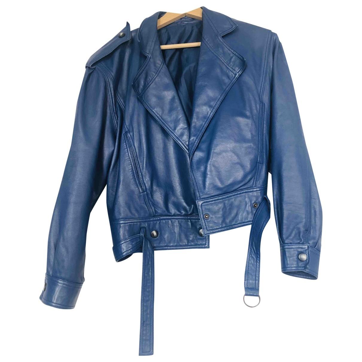 Mac Douglas \N Lederjacke in  Blau Leder