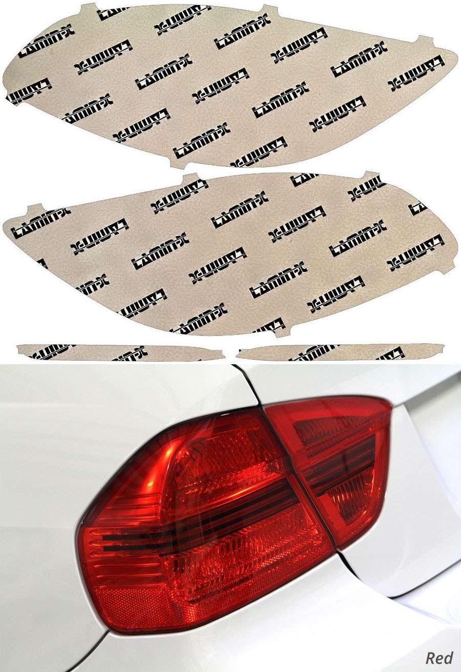 Mercedes S-Class Sedan 14-17 Red Tail Light Covers Lamin-X MB251R