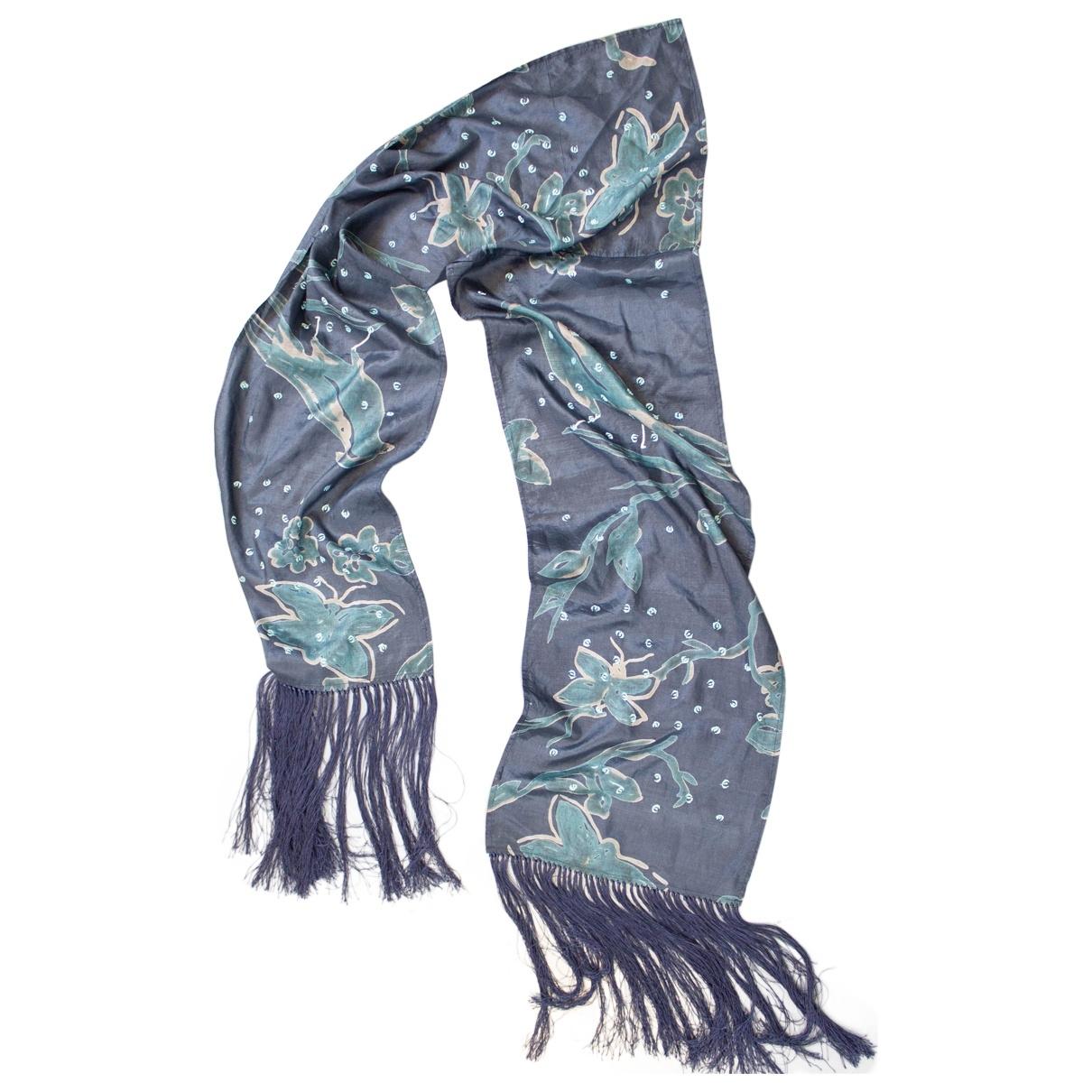 Essentiel Antwerp \N Navy Silk scarf for Women \N
