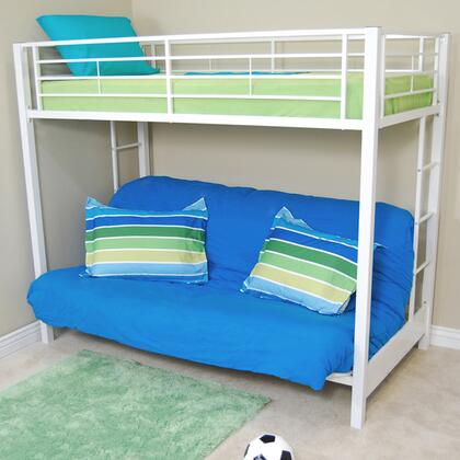 BTOFWH Twin over Futon Metal Bunk Bed -