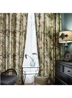 Country Style Kapok Pattern Size Customization Curtain