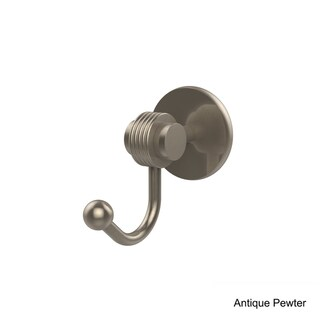 Allied Brass Satellite Orbit Two Collection Robe Hook with Groovy Accents (Antique Pewter)