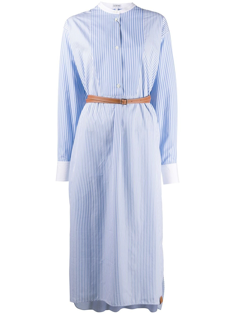 Cotton Shirtdress With Leather Belt