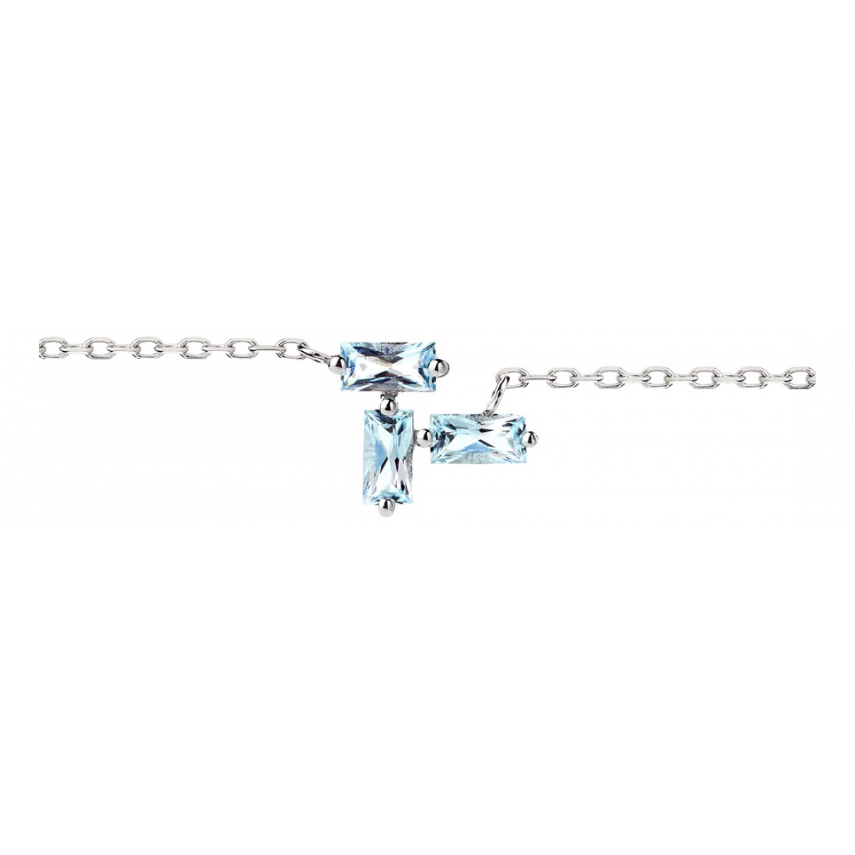 Non Signé / Unsigned N Blue White gold necklace for Women N