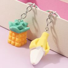 2pcs Funny Fruit Key Chain