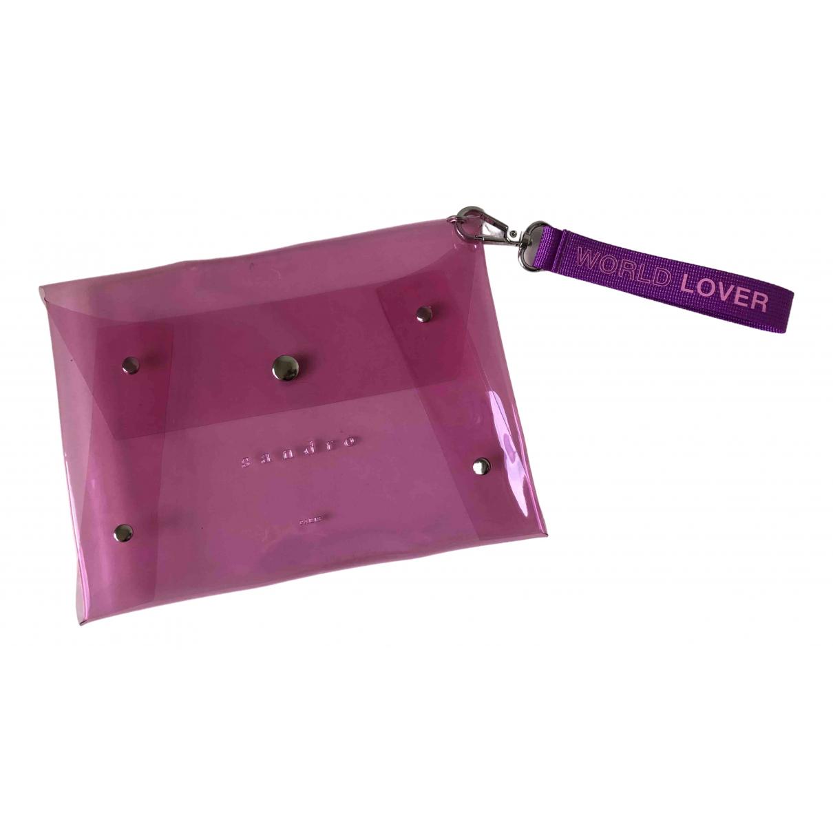 Bolsos clutch en Plastico Rosa Sandro