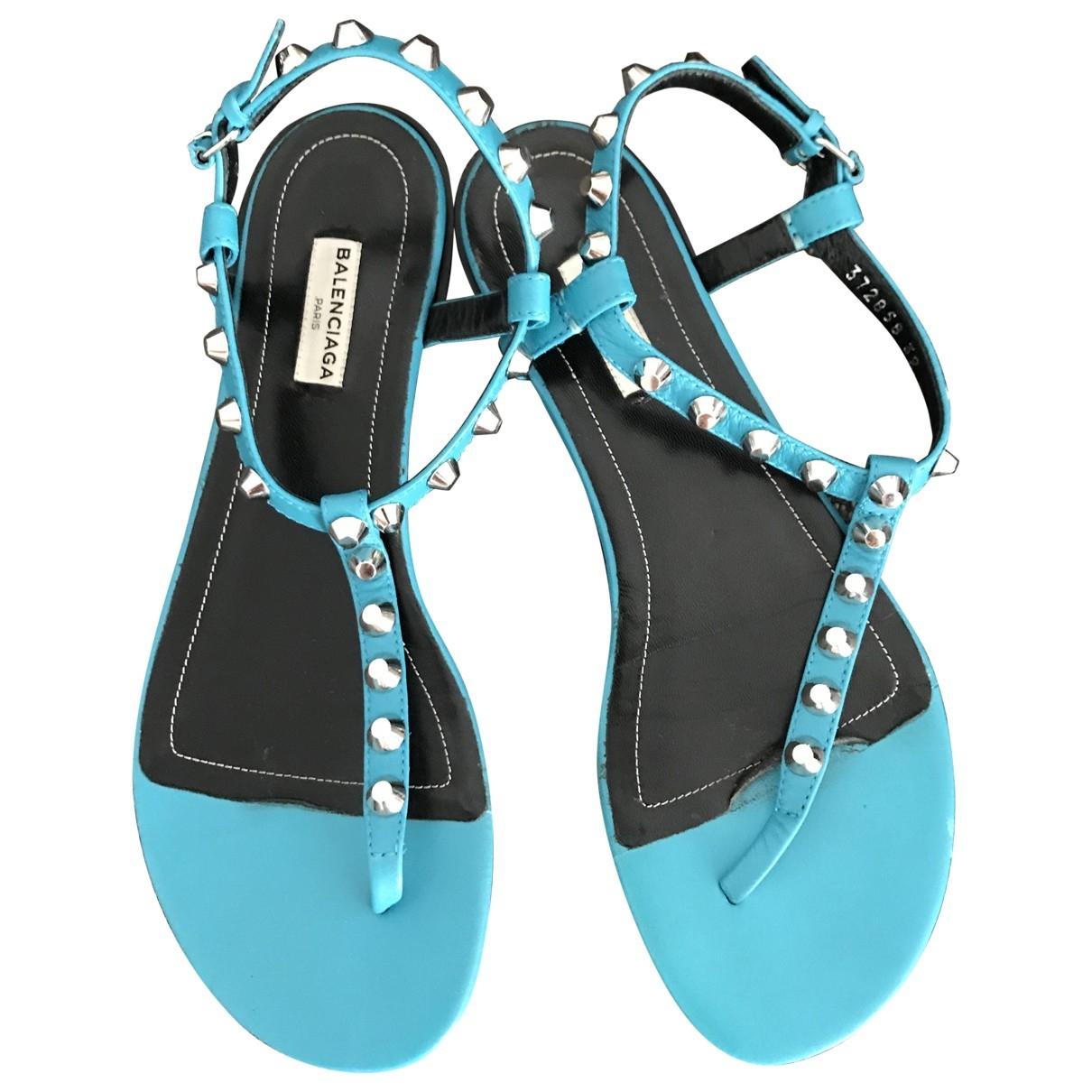 Balenciaga \N Turquoise Leather Sandals for Women 39 EU