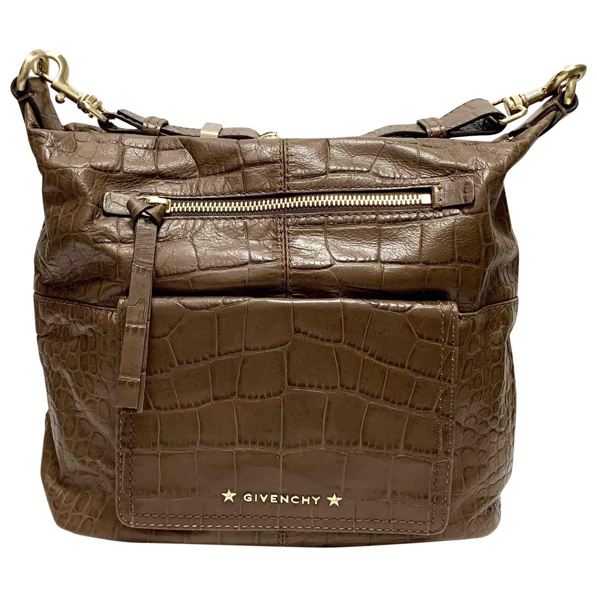 Givenchy \N Handtasche in  Braun Leder