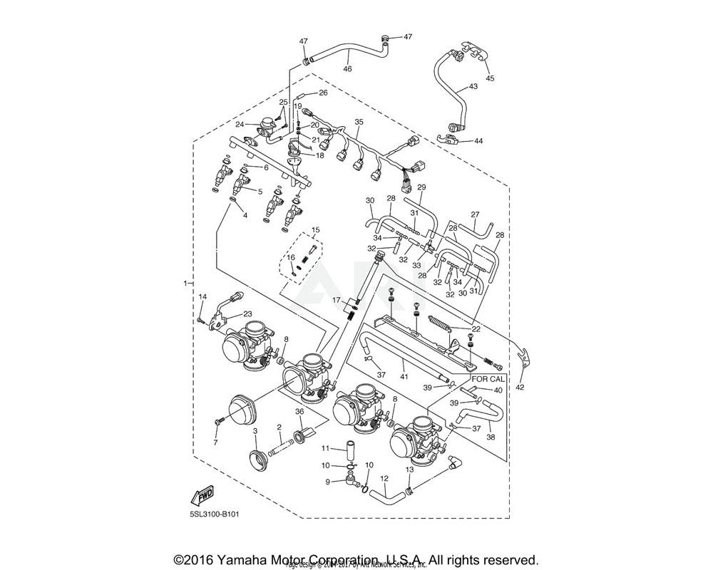 Yamaha OEM 5SL-13761-00-00 INJECTOR