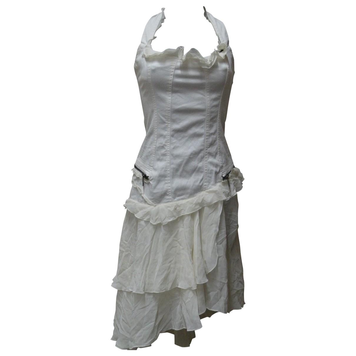 Versace Jeans \N Kleid in  Weiss Denim - Jeans