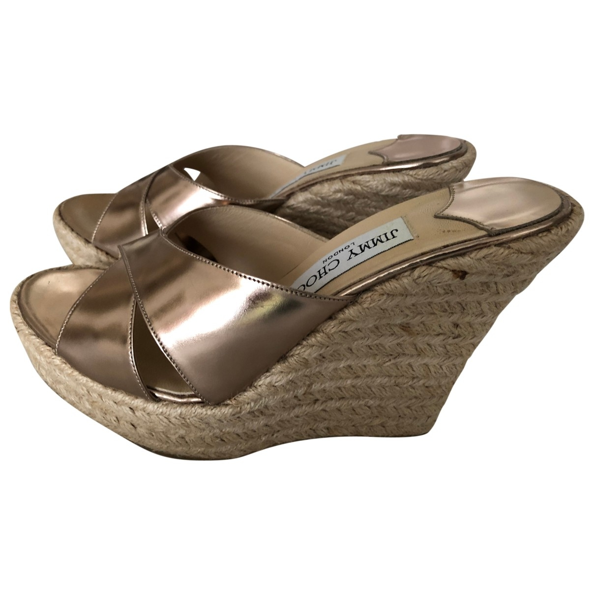 Jimmy Choo \N Gold Leather Espadrilles for Women 36.5 EU