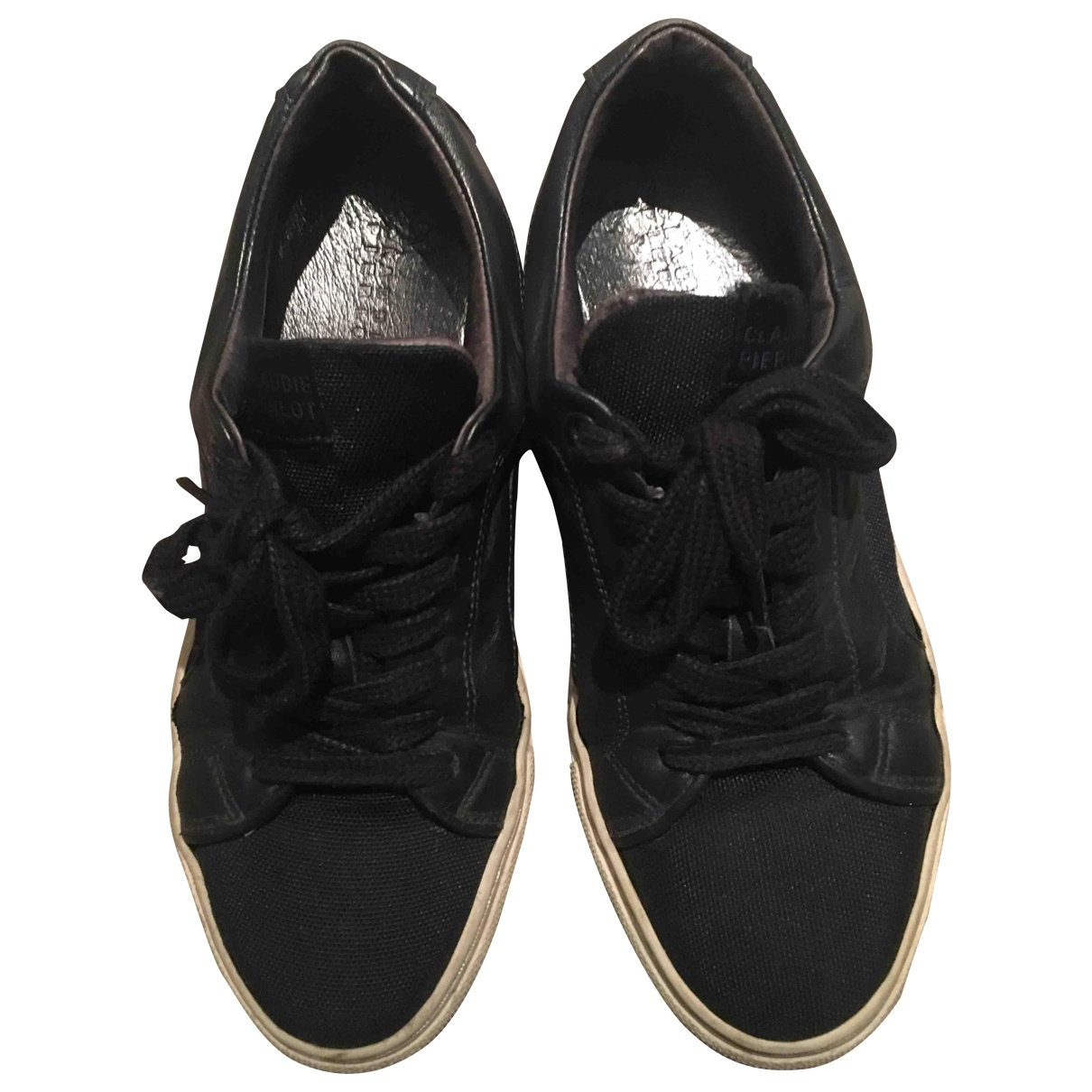 Claudie Pierlot \N Navy Leather Trainers for Women 37 EU
