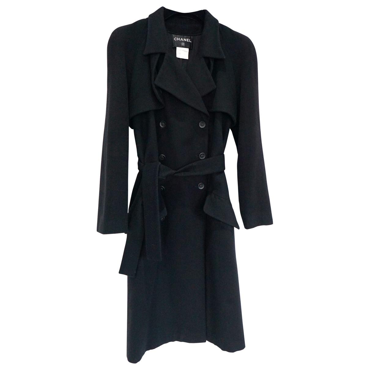 Chanel \N Black Cashmere coat for Women 38 FR