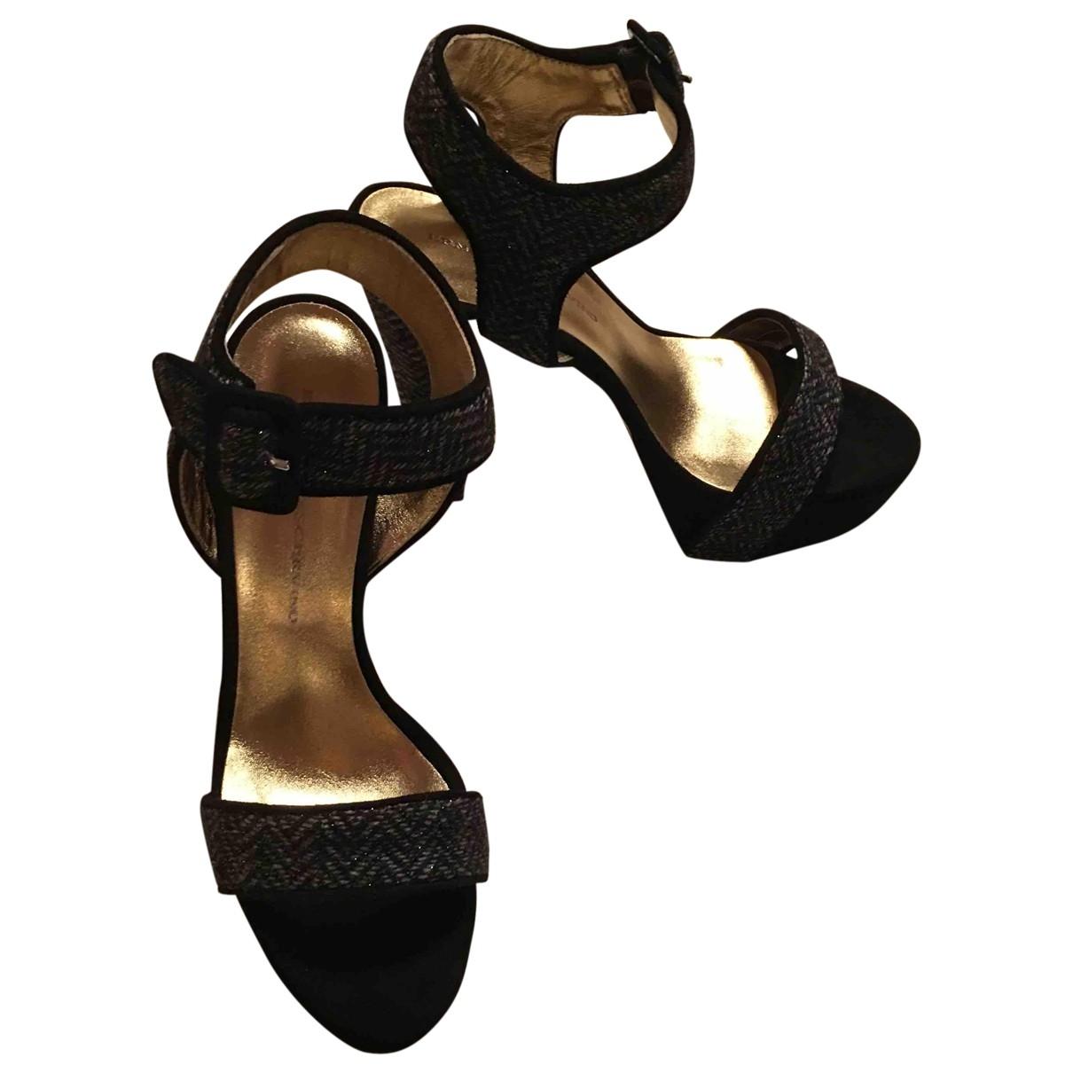 Ermanno Scervino - Sandales   pour femme en tweed - noir