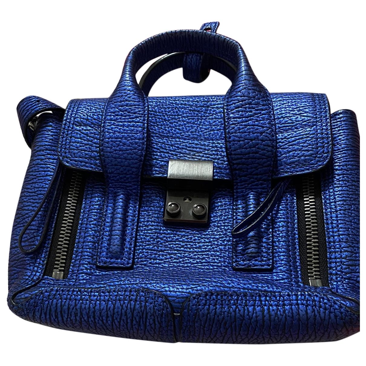 3.1 Phillip Lim - Pochette Pashli pour femme en cuir - bleu