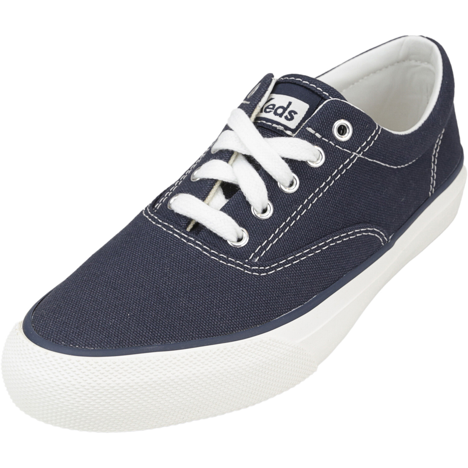 Keds Women's Anchor Solid Navy Ankle-High Fabric Wedge Sneakers - 5M