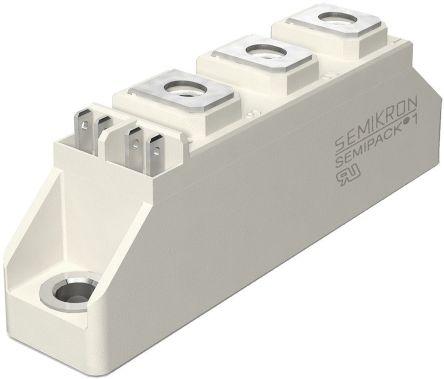 Semikron , SKKH 107/16 E, Diode/Thyristor Module SCR, SCR, 119A 1600V, 5-Pin Semipack1