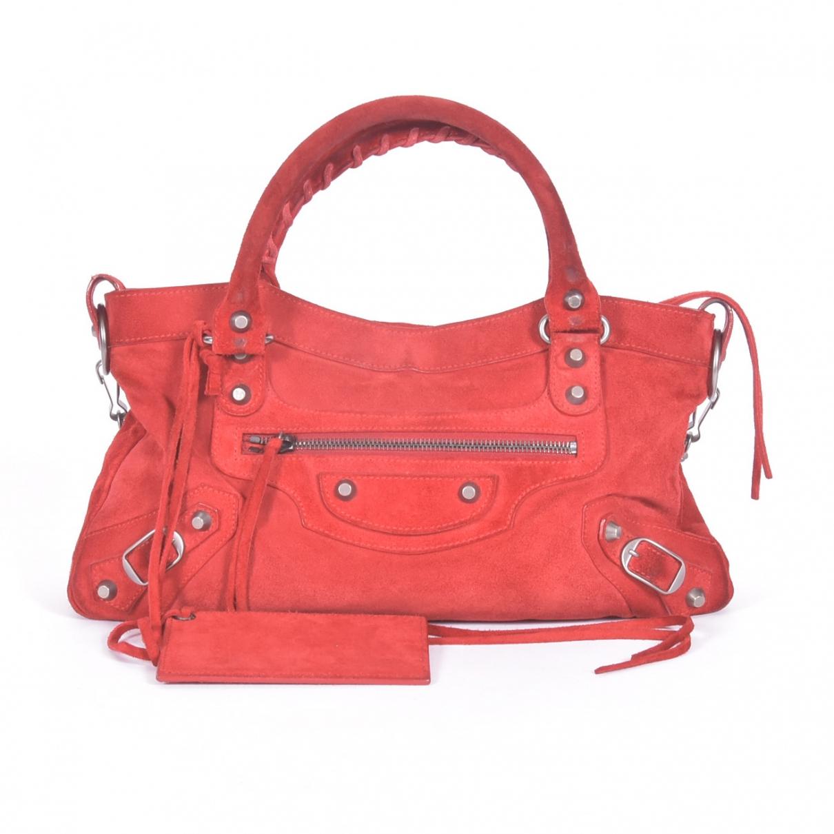 Balenciaga City Red Suede handbag for Women \N