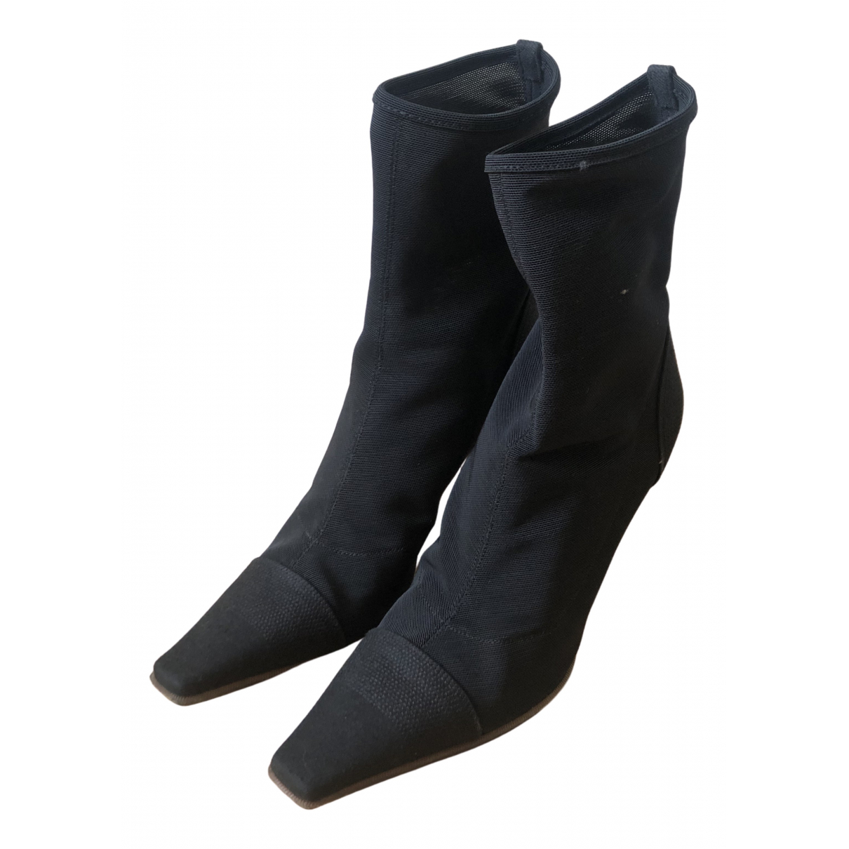 Sergio Rossi N Black Leather Boots for Women 36 EU