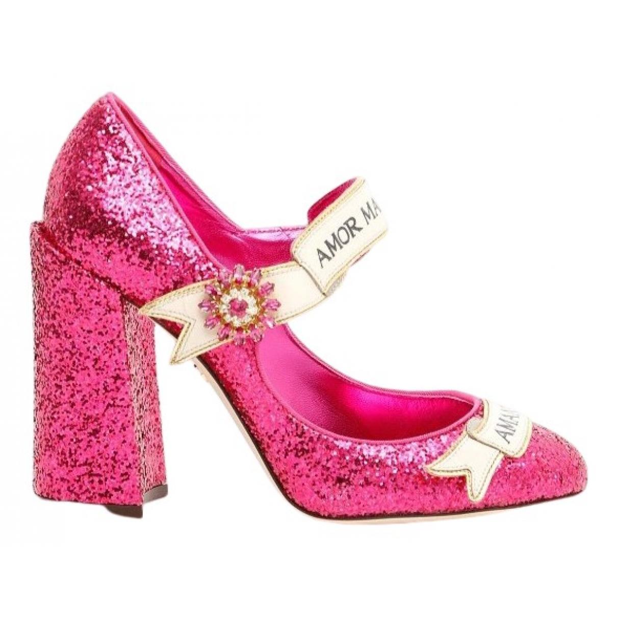 Dolce & Gabbana - Escarpins   pour femme en a paillettes - rose