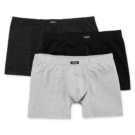 Rico 3-pk. Cotton Stretch Boxer Briefs, X-large , Black