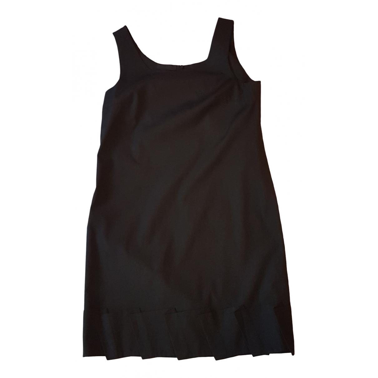 Prada \N Kleid in  Schwarz Baumwolle