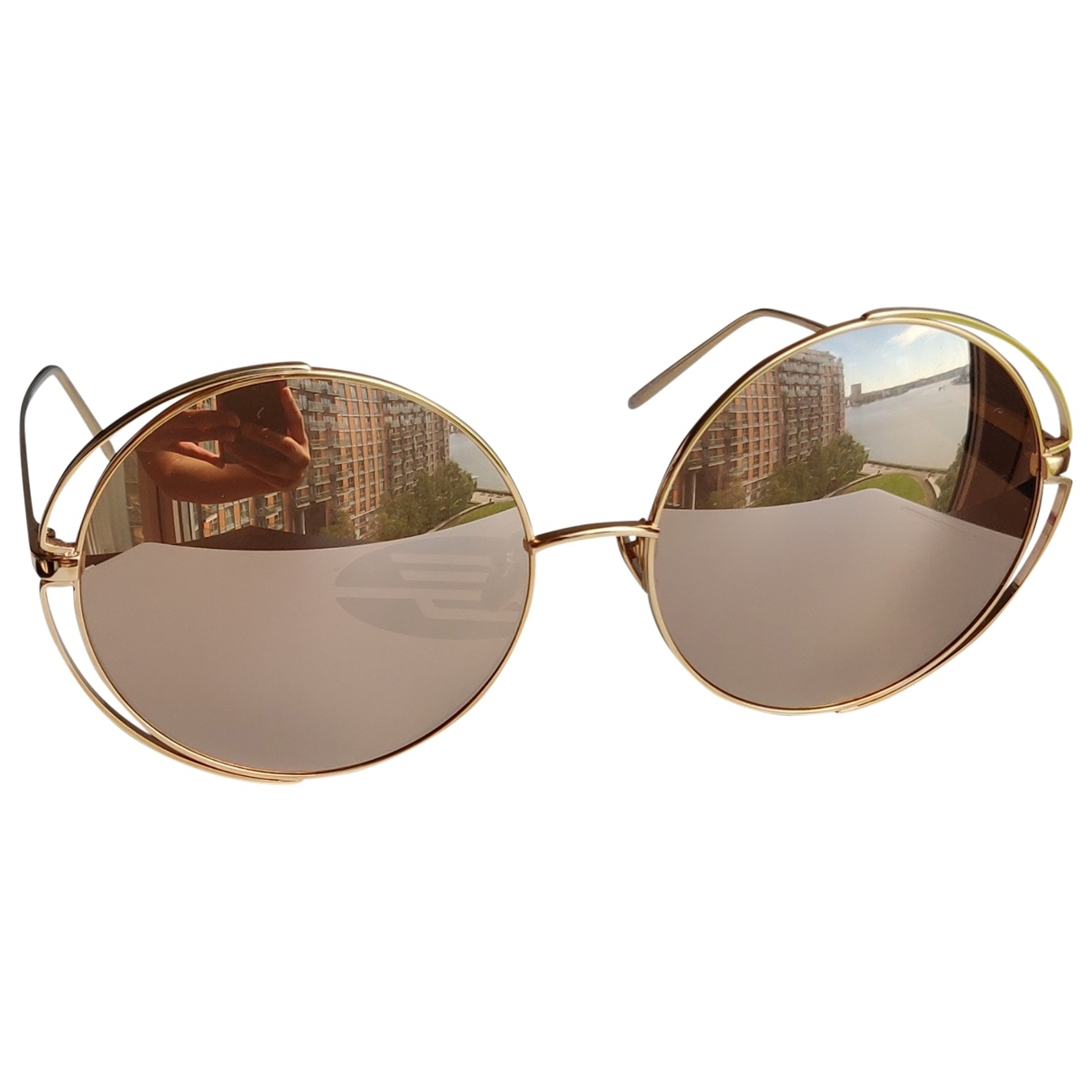 Linda Farrow \N Sonnenbrillen in  Braun Metall