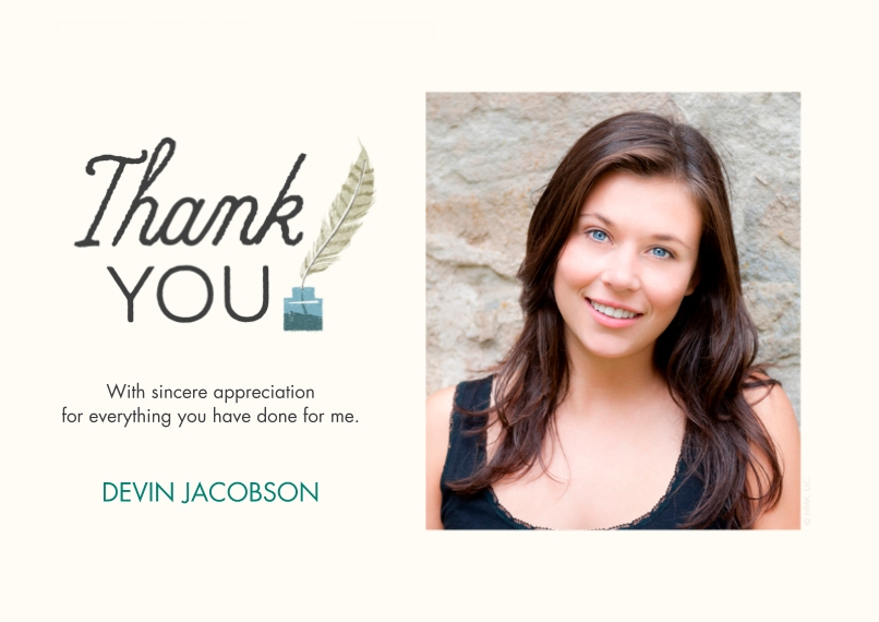Graduation Thank You Cards 5x7 Cards, Premium Cardstock 120lb, Card & Stationery -Thank You Plume by Hallmark