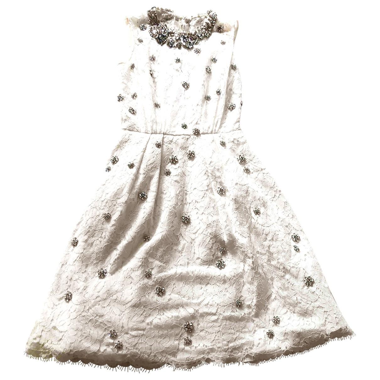 Jenny Packham \N White Lace dress for Women 8 UK