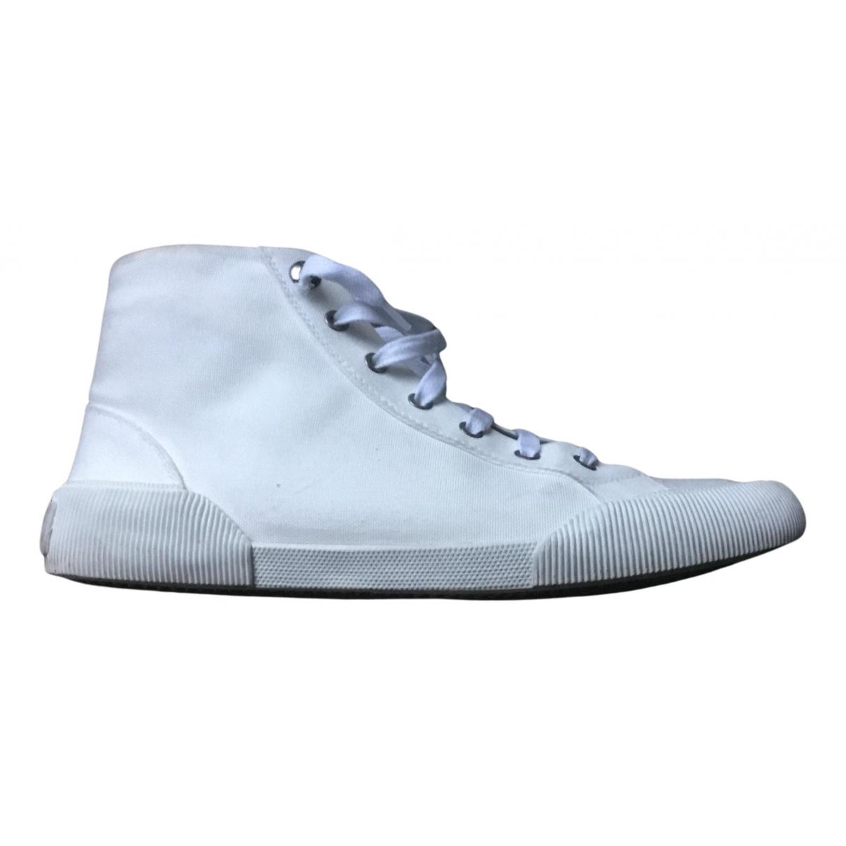 Lanvin \N Sneakers in  Weiss Leinen