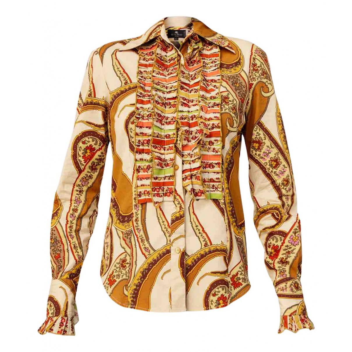 Etro - Top   pour femme en coton - multicolore