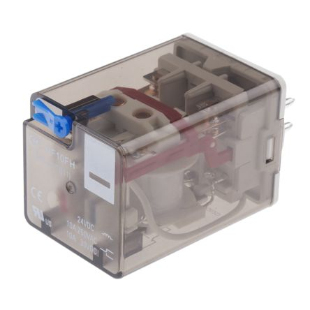 Hongfa Europe GMBH , 24V dc Coil Non-Latching Relay DPDT, 10A Switching Current Plug In, 2 Pole