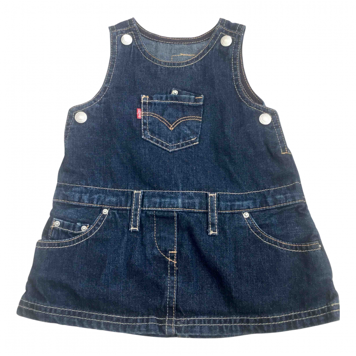 Levis - Robe    pour enfant en denim - bleu