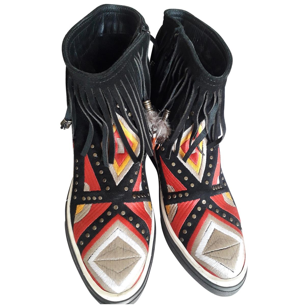 Moa Master Of Arts - Boots   pour femme en cuir - multicolore