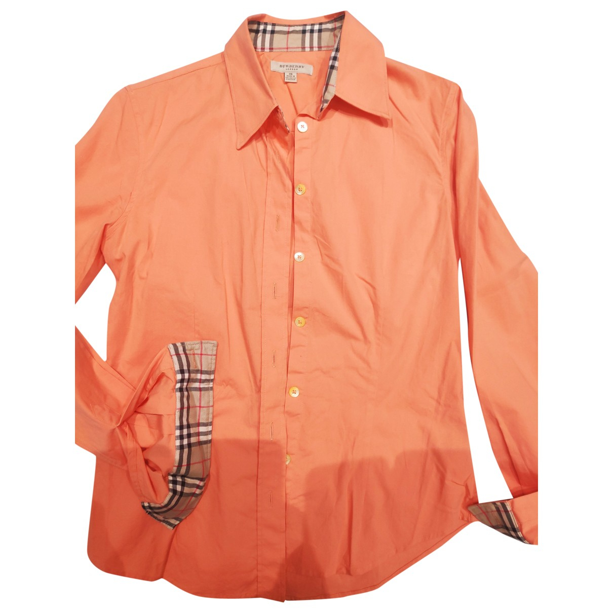 Burberry \N Orange Cotton  top for Women XS International