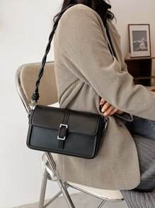 Minimalist Flap Shoulder Bag