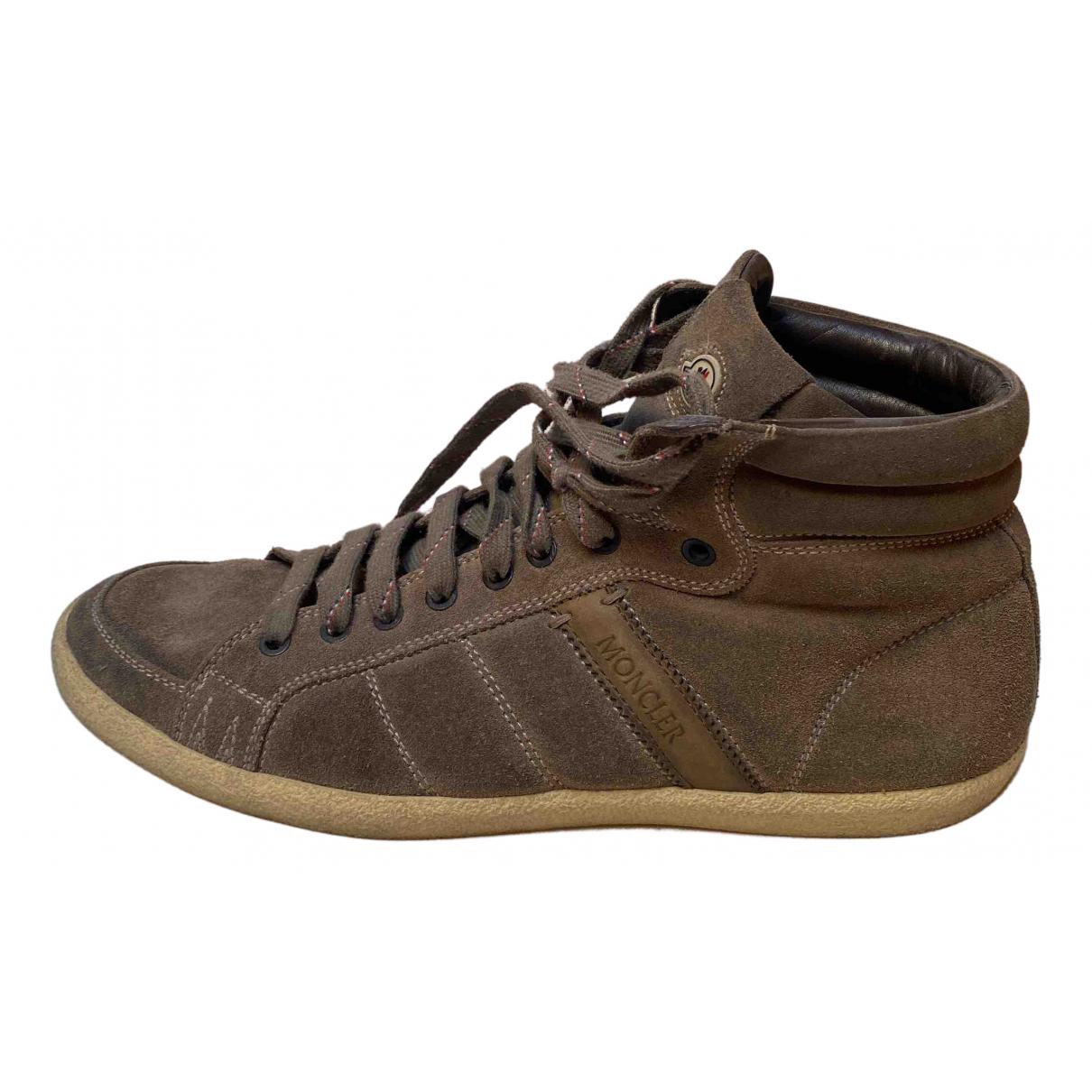 Moncler N Green Suede Boots for Men 44 EU