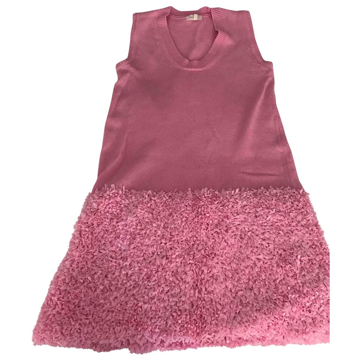 Delpozo \N Kleid in  Rosa Baumwolle