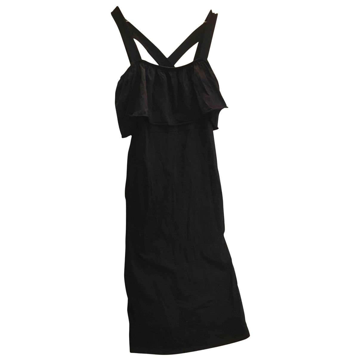 Asos \N Kleid in  Schwarz Baumwolle