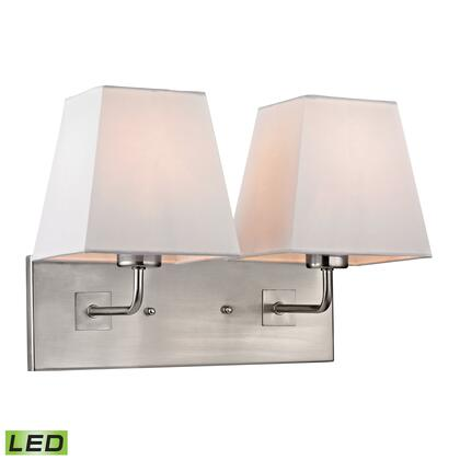 17161/2-LED Beverly Collection 2 Light Sconce in Brushed Nickel-