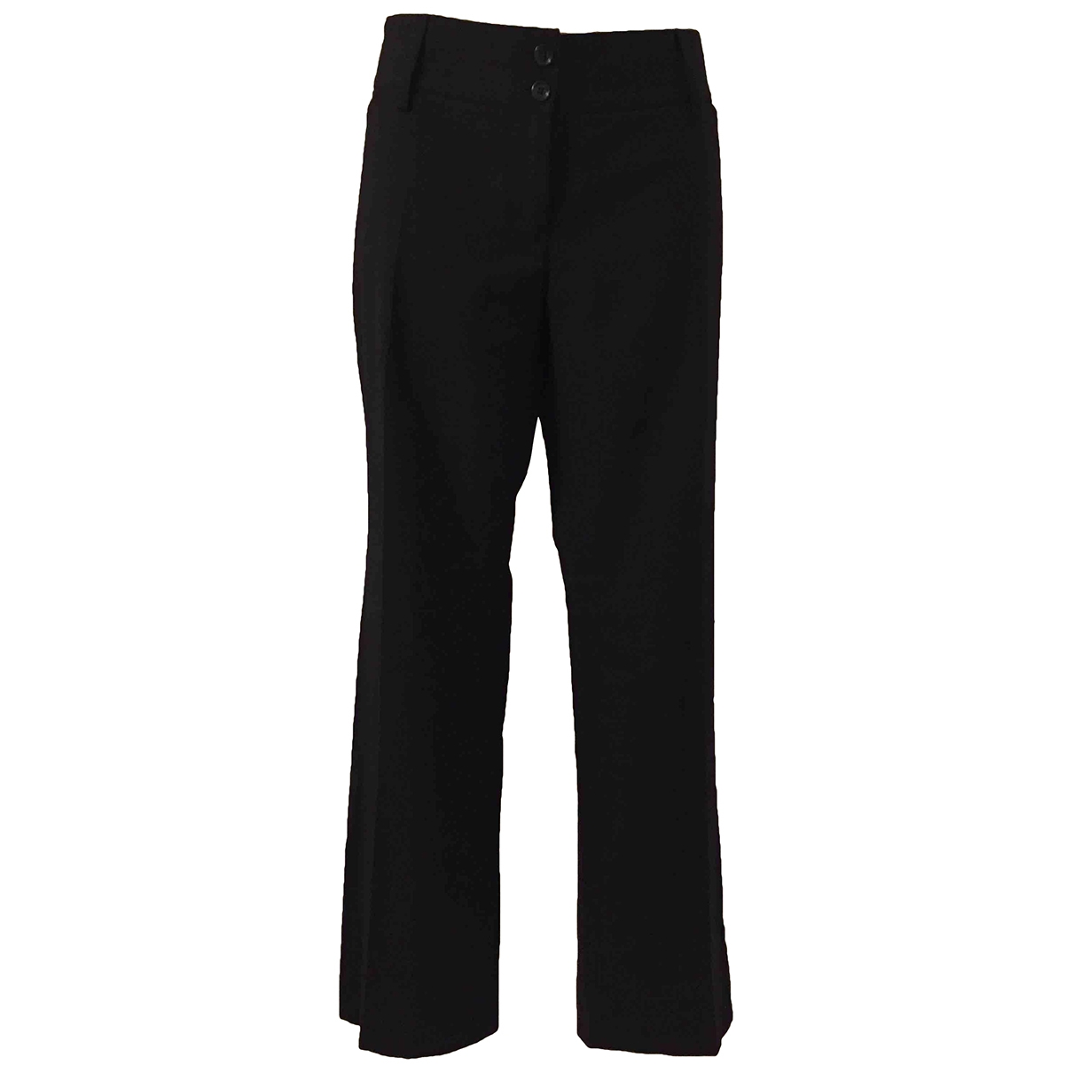 Dolce & Gabbana \N Black Wool Trousers for Women 46 IT