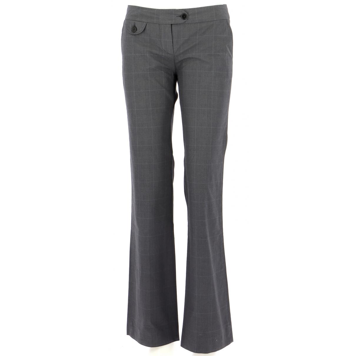 Pantalones en Algodon Gris Comptoir Des Cotonniers