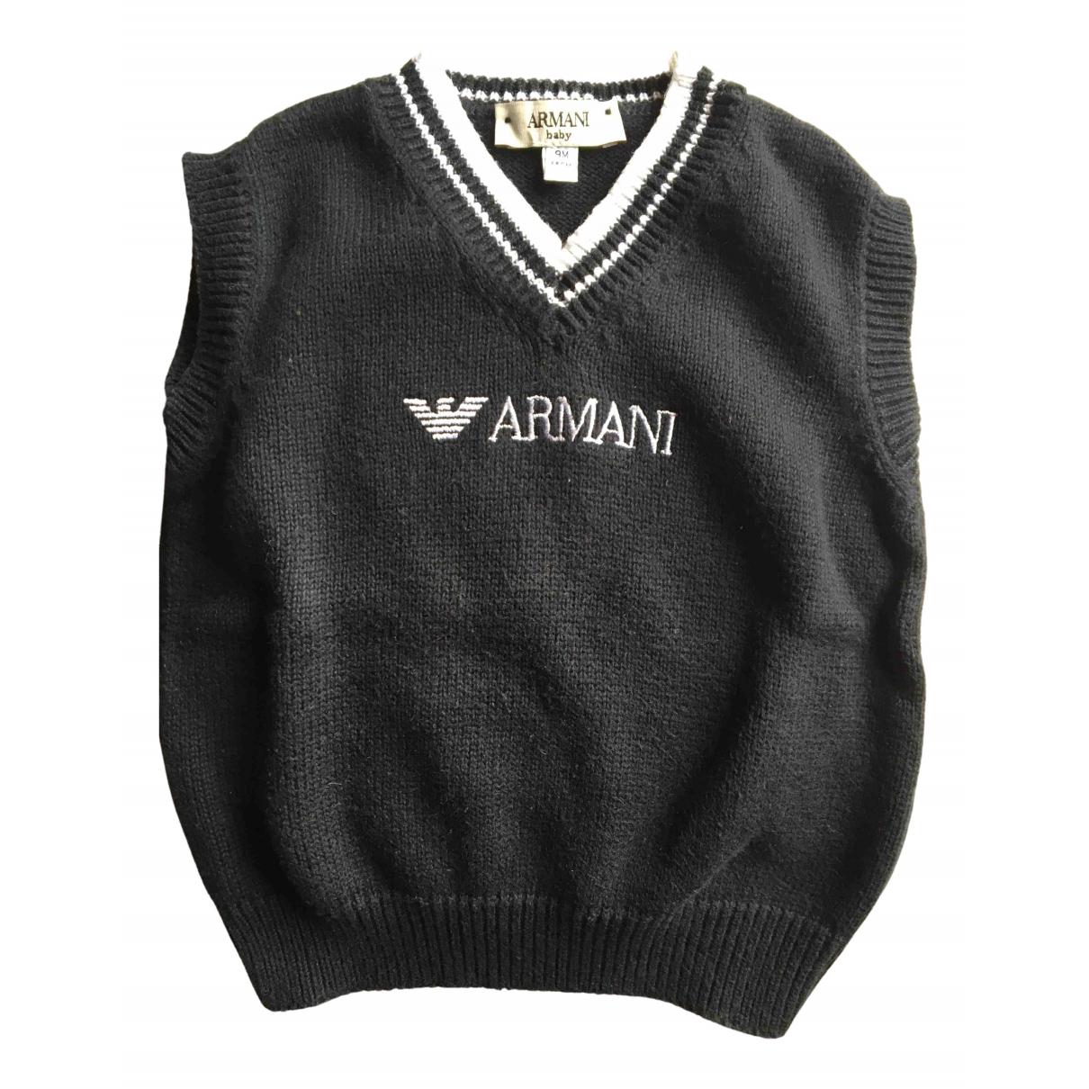 Armani Baby - Pull   pour enfant en coton - noir